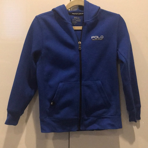 Boys POLO for Ralph Lauren blue zip up sweatshirt